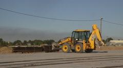 Backhoe loader. Digger Stock Footage