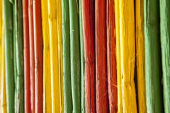 Canes with reggae colors Stock Photos