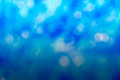 Colourful of bokeh blue light blurred Stock Photos