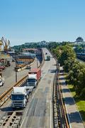 Maritime cargo port of Odessa - stock photo