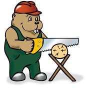 Beaver Stock Illustration