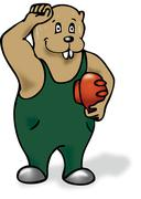 Sweating beaver - stock illustration
