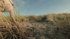 Summer Free Time - Beach Walk Stock Footage