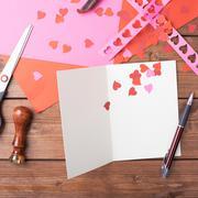 Making valentine card Stock Photos