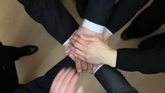 Business people's hands group - stock footage