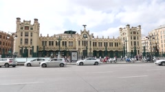 Train Station in Valencia, Spain. Stock Footage