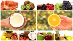 close up of diverse fruits, montage - stock footage