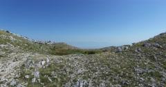 Abstract mountain landscape. Adriatic sea coast, Montenegro Stock Footage