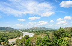 Aerial nature view of Kho Khot Kra or Kra Isthmus, Thailand Stock Photos