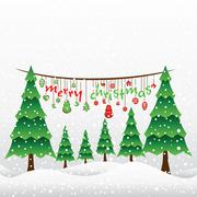 Creative merry christmas greeting card design vector Stock Illustration