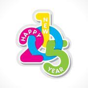 creative happy new year 2015 design vector - stock illustration