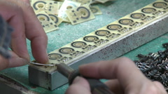 Soldering parts, Chinese factory Stock Footage