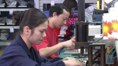 China manufacturing, factory assembly line Arkistovideo