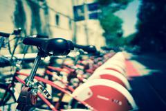 Barca bikes - stock photo