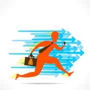 Businessmen run with speed  to compete the competetor Stock Illustration