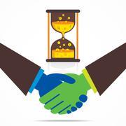 business relation or handshake business men concept vector - stock illustration
