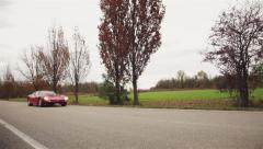 Iso Grifo A3C Italian musclecar driving by FIxed Shot0 01 Stock Footage