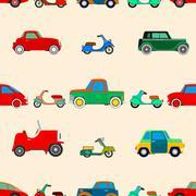 Seamless wallpaper of cars - stock illustration