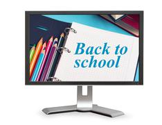 Stationary and Back to school sign Stock Photos