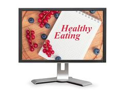 Healthy eating online Stock Photos
