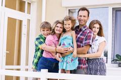 Big happy family Stock Photos