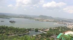 Fateh Sagar Lake, Udaipur Stock Footage