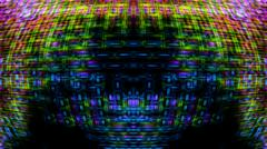Futuristic Screen Display Pixels - stock photo