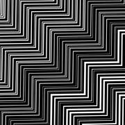 Stock Illustration of Stylish Decorative Background with  Zigzags