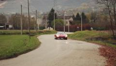 Iso Grifo A3C Italian musclecar driving by Pan Shot 01 Stock Footage