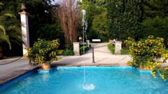 Fountain in the park of Bad Pyrmont, Germany Stock Footage