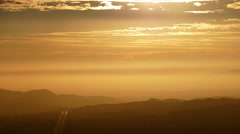 Sunset Time Lapse Behind Simi Valley Near Los Angeles California Stock Footage