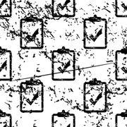 Positive result pattern, grunge, monochrome Stock Illustration