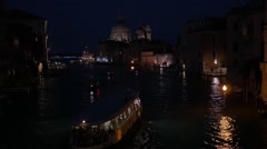 Venice by Night Stock Footage
