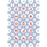 Blue and red Advent calendar Stock Illustration