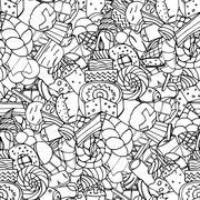 Set of confectionery - stock illustration