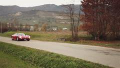 Iso Grifo A3C Italian musclecar driving by Pan Shot 02 Stock Footage