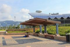 Kai Tak Runway Park - stock photo