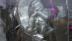 Christmas Angel Decoration At Paris Stock Footage