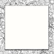 frame of flowers - stock illustration