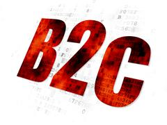 Stock Illustration of Business concept: B2c on Digital background