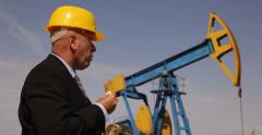 Manager Inspecting Oil Extracting Field Activity Eat Tasty Sandwich Cold Lunch Stock Footage