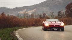 Iso Grifo A3C Italian musclecar driving by Pan Shot 04 Stock Footage