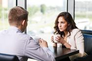 Stock Photo of Couple sitting at a cafe