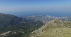 Abstract mountain landscape. Adriatic sea coast, Montenegro Stock Footage