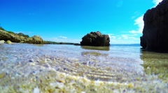 foreshore seen from the ground - stock footage