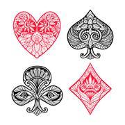 Card Suits Set Stock Illustration