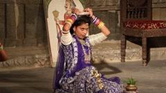 Rai Folk Dance of Rajasthan Stock Footage