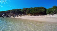 Paradise beach in Alghero Stock Footage