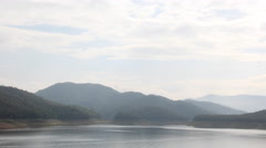 4K. Timelapse Dam in northern Thailand in the morning, 4096x2304. Stock Footage
