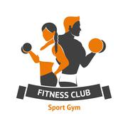 Fitness Club Logo Stock Illustration